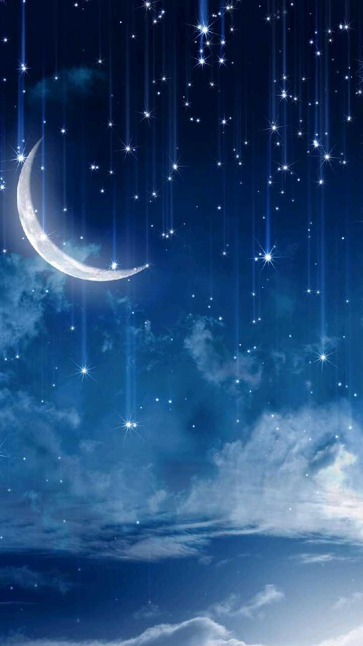 красивые картинки луны и звезд вертикально мама