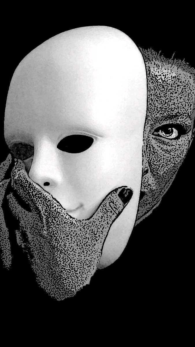 стихи про маску на лице что