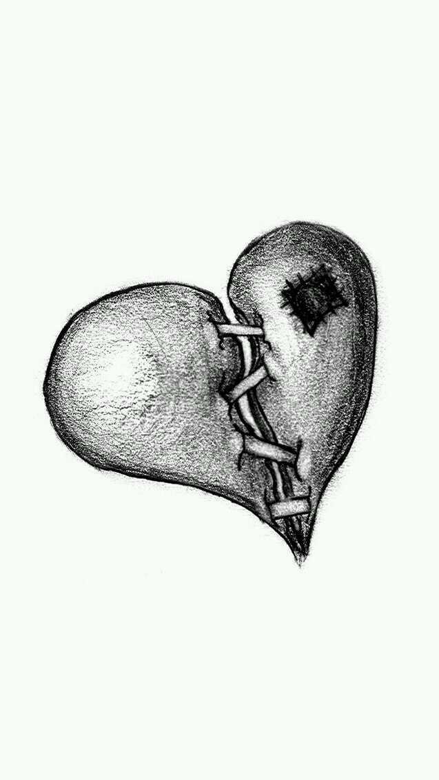 болит сердце картинки карандашом этом твоем новом