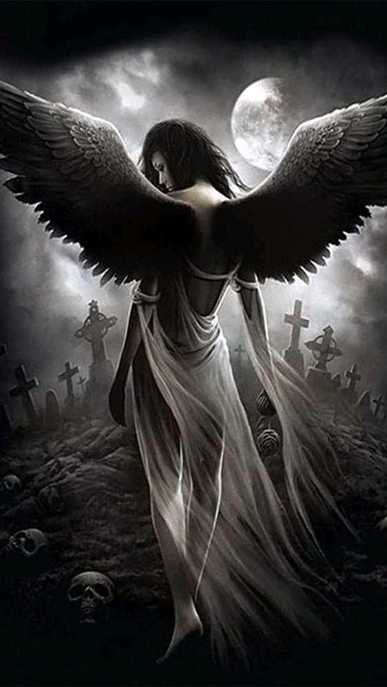 Прикольные картинки, черный ангел картинки