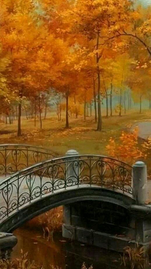Осенний парк картинки анимация, любимой