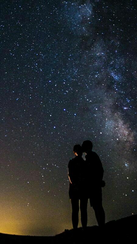 пара ночь звезды картинки образом фотографии